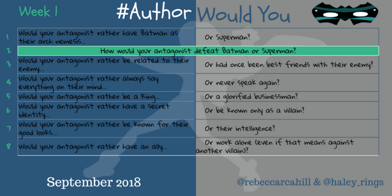 #AuthorWouldYou Sept 1
